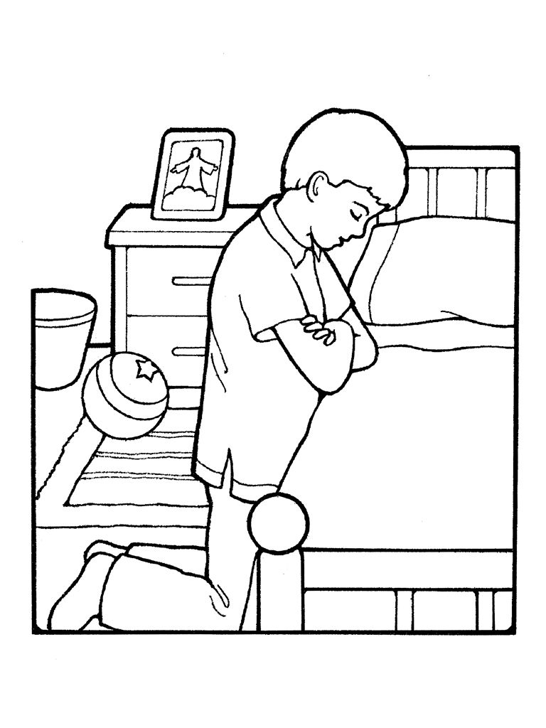 Family Praying Coloring Page Related Keywords & Suggestions ...