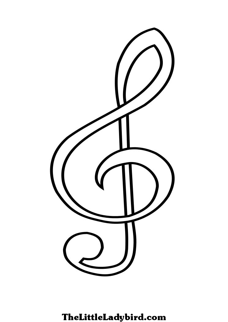 musical notes coloring pages coloring home