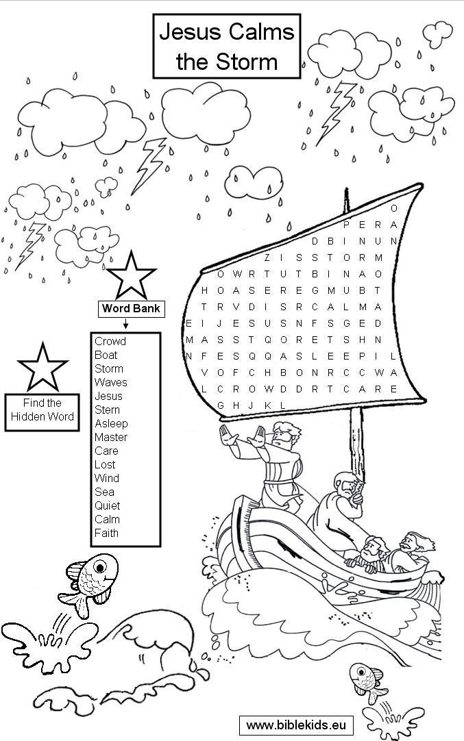Free Coloring Page Of Jesus Calming The Storm