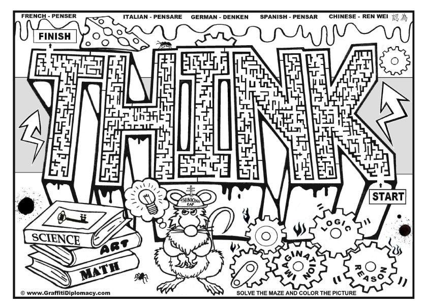 Cool graffiti coloring pages coloring home for Cool coloring pages for older kids