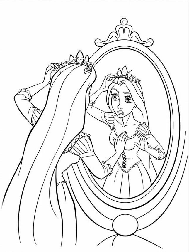 Barbie Rapunzel Coloring Page