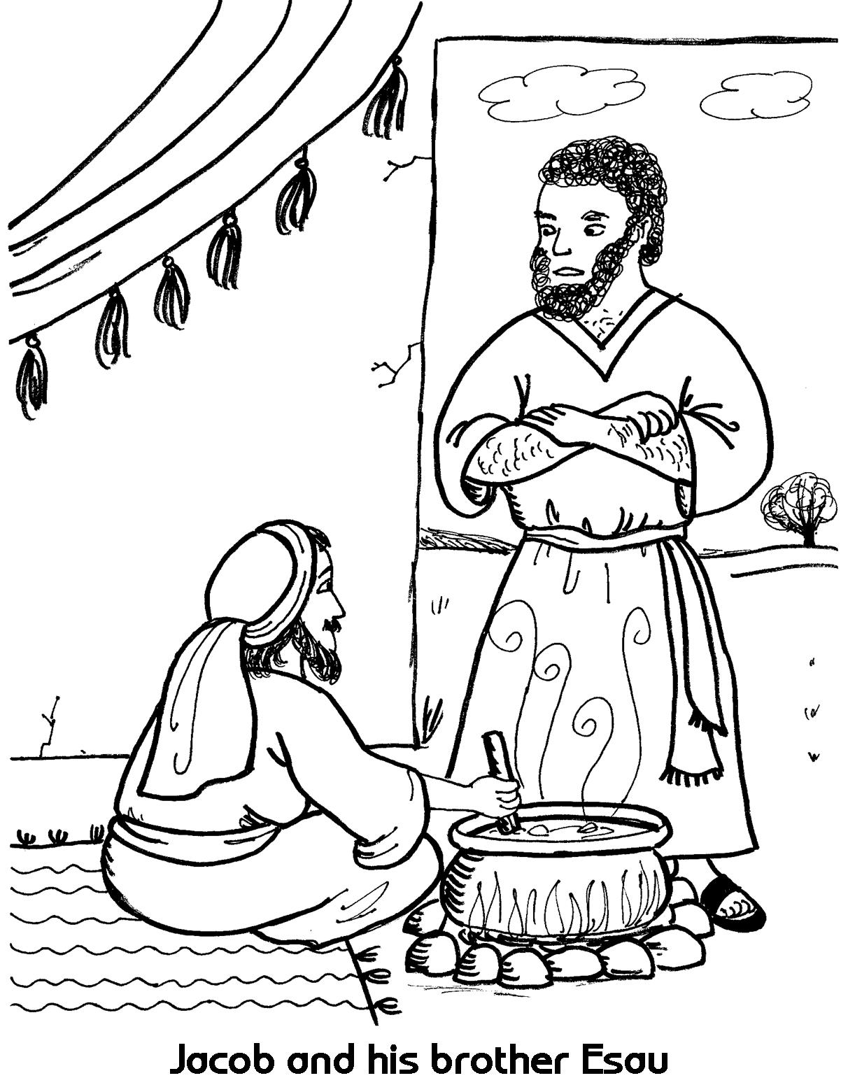 jacob meets esau coloring page esau