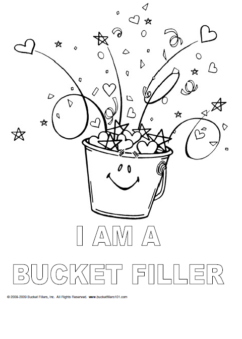 Bucket Filler Coloring Page i am a Bucket Filler Coloring