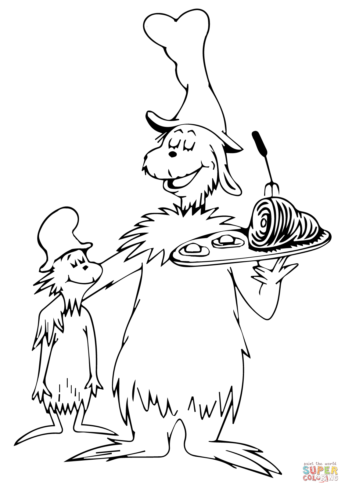 Dr seuss coloring pages green eggs and ham az coloring pages for Dr seuss character coloring pages