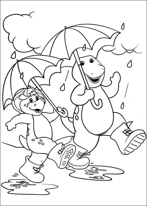 Barney And Friends Coloring Pages Printables - High Quality ...