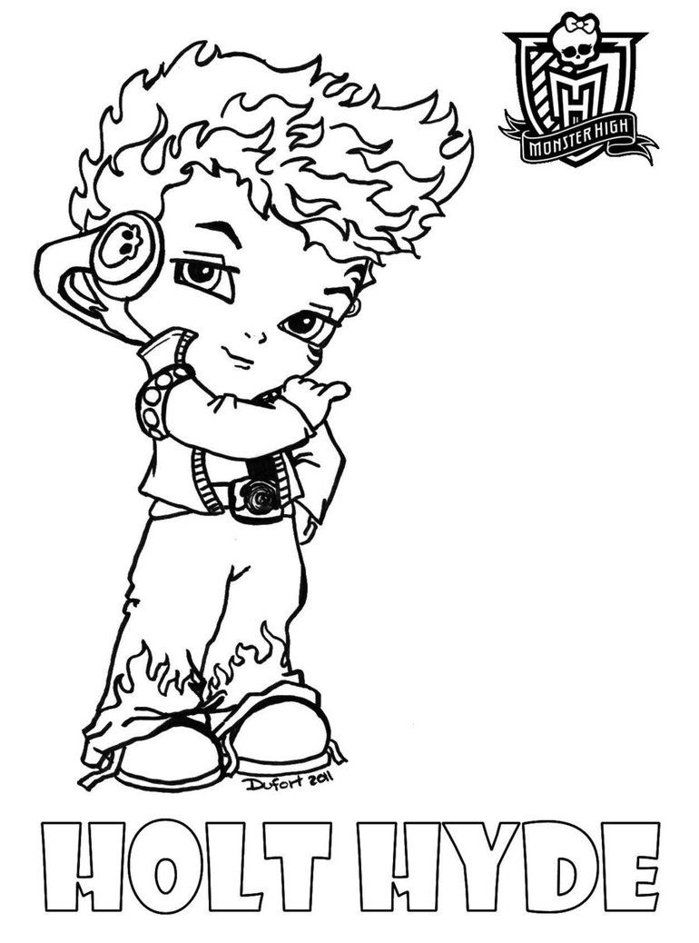 Images Of Monster High Characters Coloring Pages Coloring Home