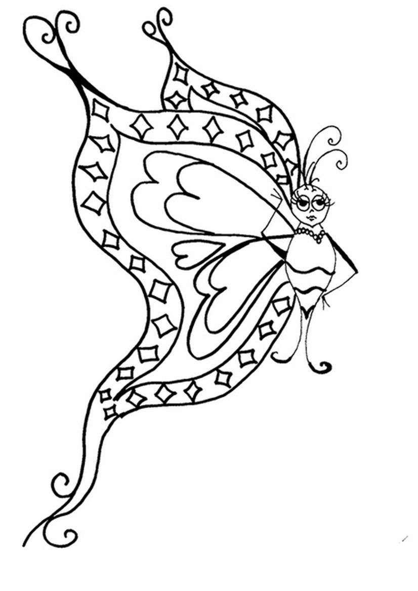 Drawing pages of butterfly - 6 Pics Of Beautiful Butterfly Coloring Pages Butterfly And