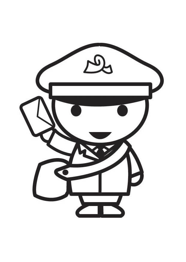Mailman Coloring Page
