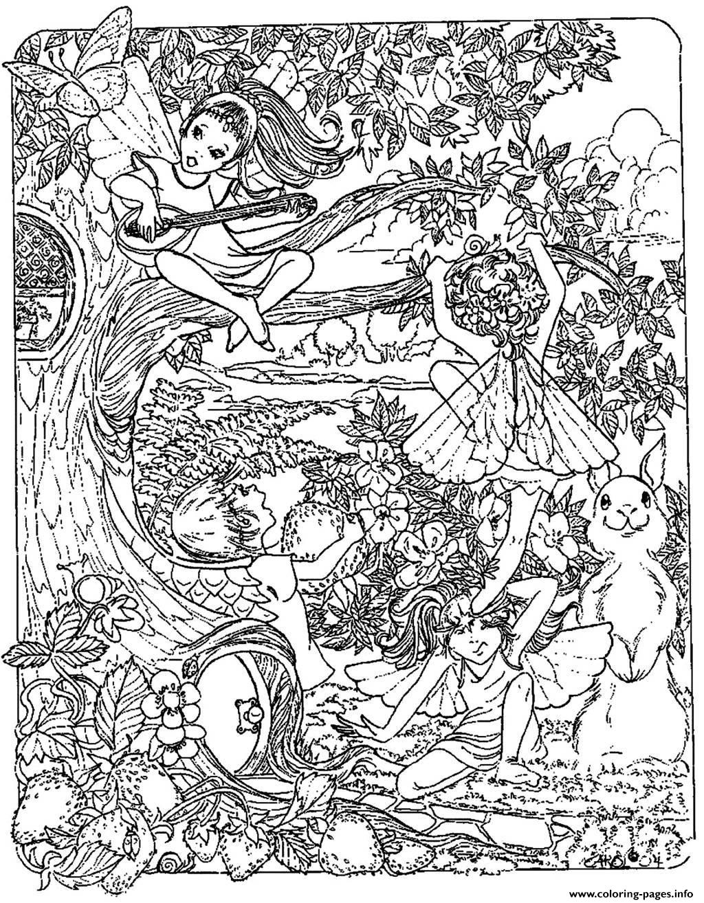 Detailed Coloring Pages For Adults Printable Fantasy