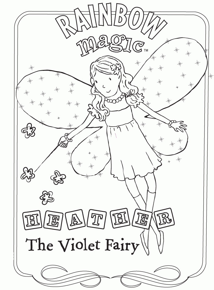 Rainbow Magic Coloring Page - Violet