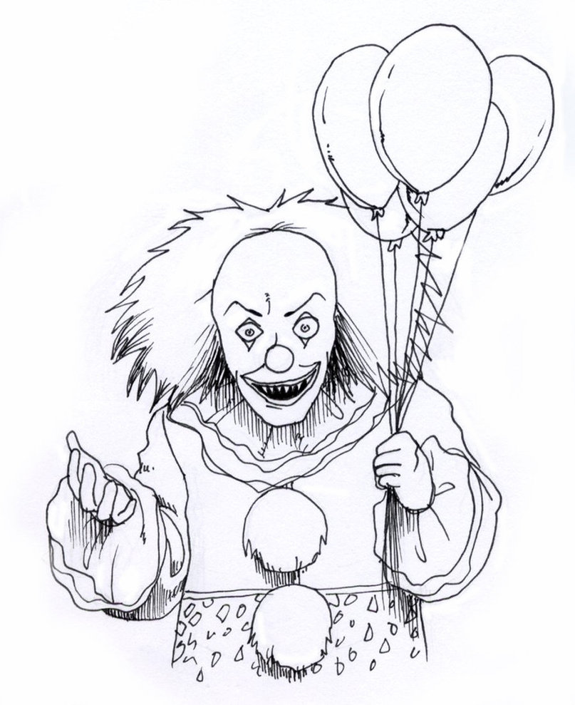 scary coloring pages - photo#7