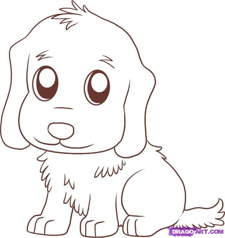 Draw a Golden Retriever, Step by Step, Drawing Sheets, Added by ...