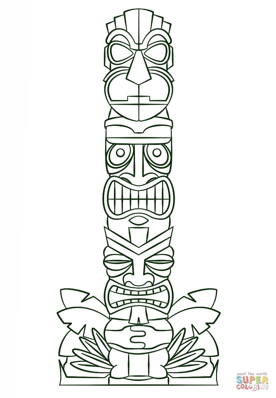 Раскраска столб