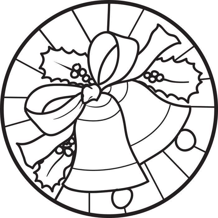 free printable christmas bells coloring page for kids 4