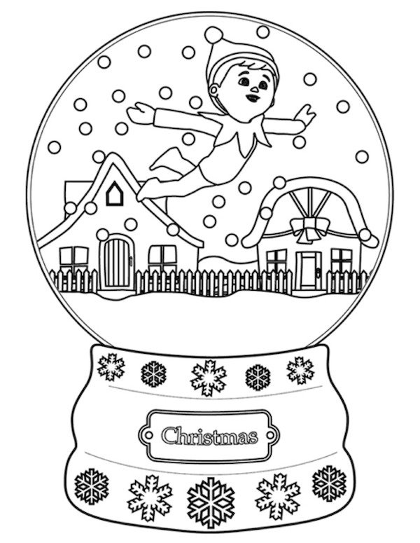 Elf Coloring Pages Pdf : Elf on the shelf pictures to color coloring home