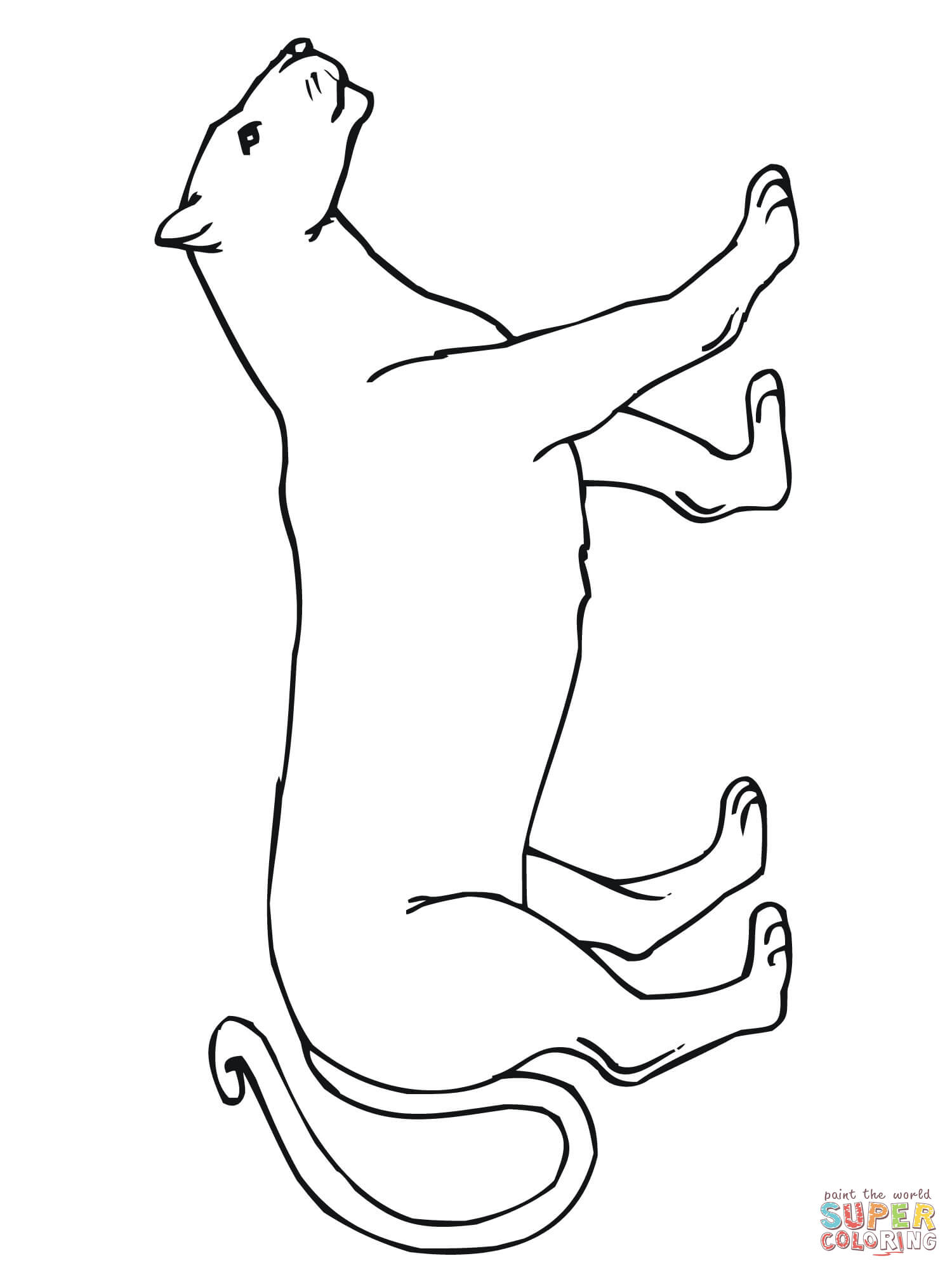 Walking Mountain Lion Coloring Page Coloring Home On july 25, 2012 apple released mountain lion (os x 10.8) as an upgrade to its operating system. walking mountain lion coloring page