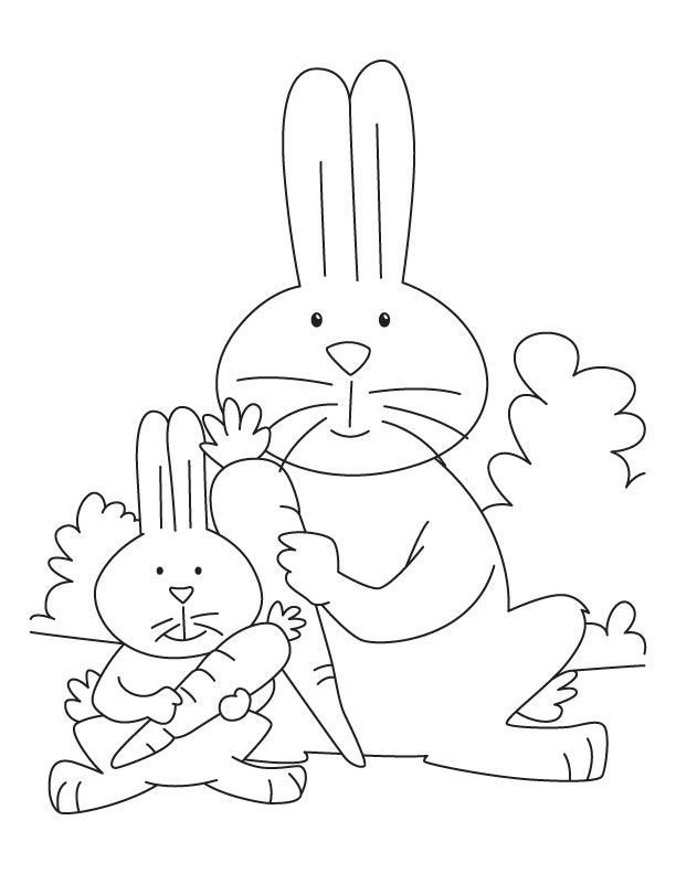 christmas coloring pages rabbit with christmas tree in the hands