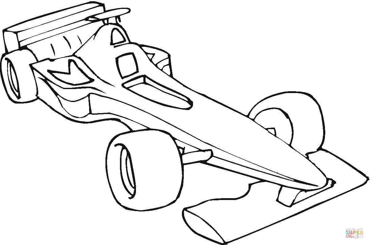 Formula One Car coloring page | Free Printable Coloring Pages