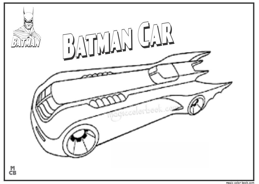 Batman Car Coloring Pages Print