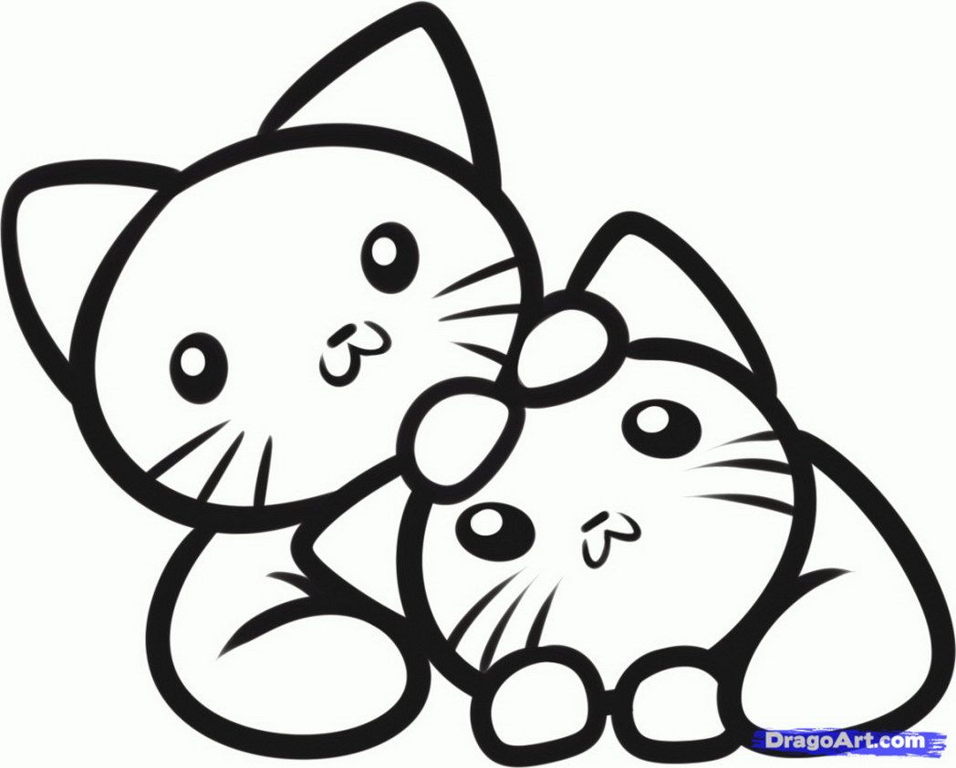 Puppy coloring pages online - Cute Coloring Pictures Of Kittens Coloring Online