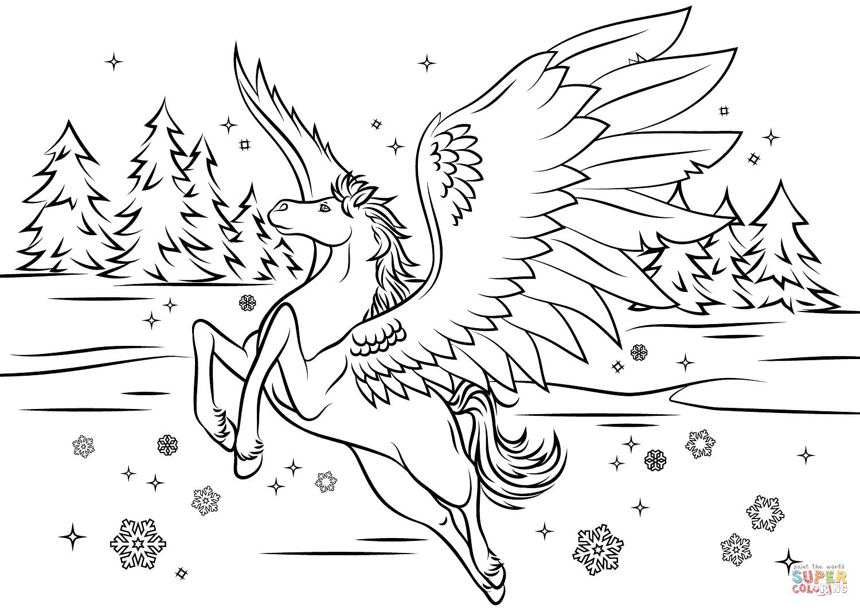 bella sara pegasus coloring page  free printable coloring