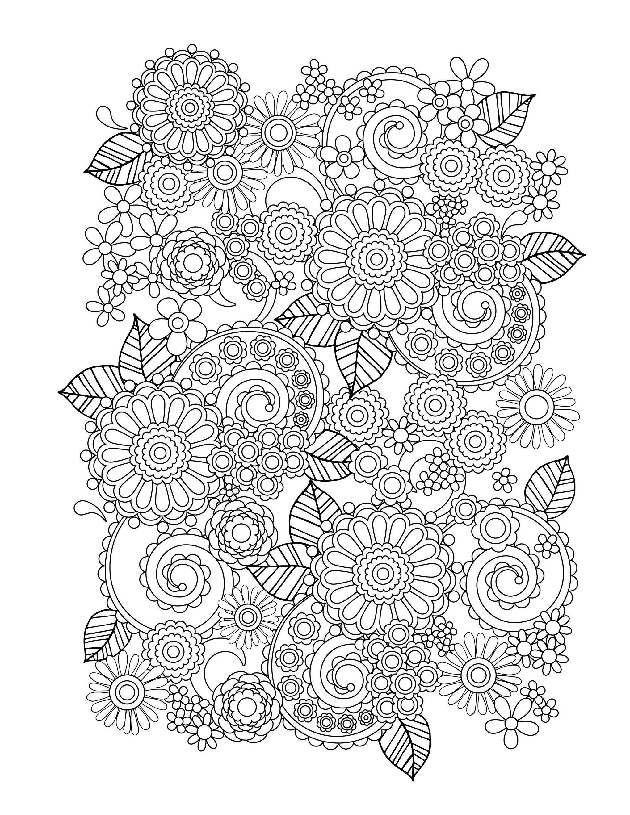 plex Flower Coloring Pages Coloring Home