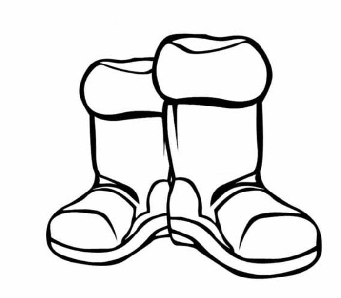 boot coloring pages - photo#14
