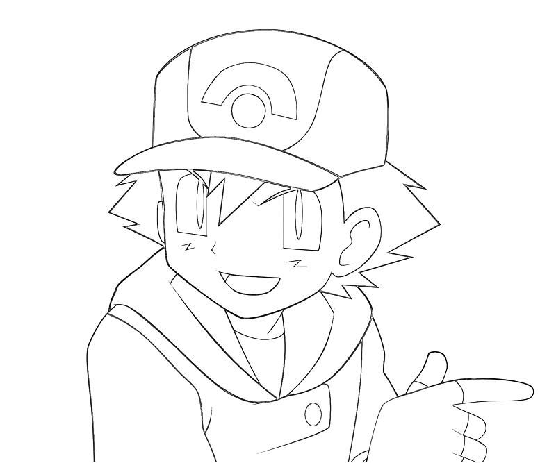 7 Pics Of Ash Pokemon BW Coloring Pages Pokemon Ash Ketchum