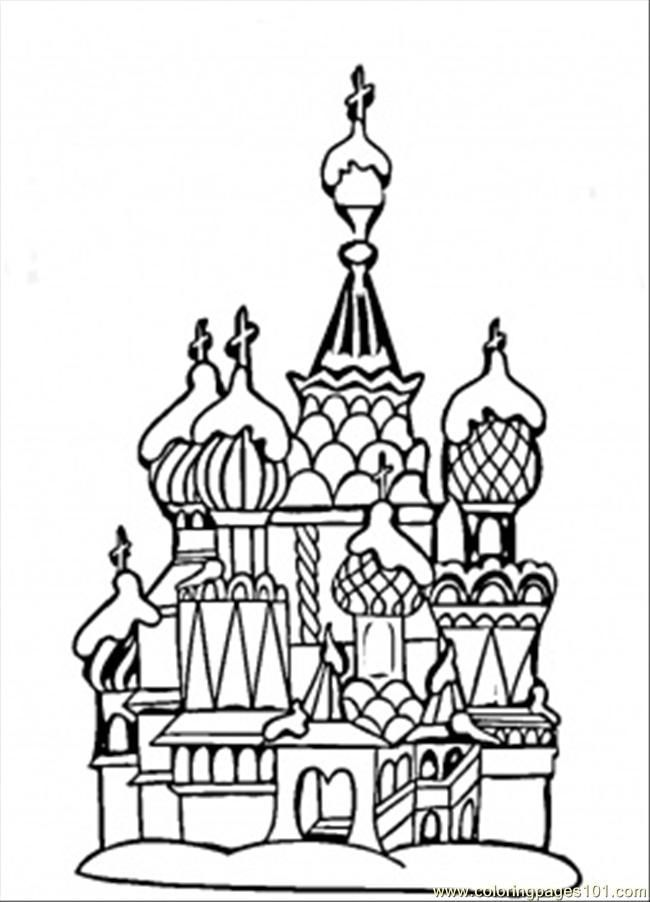 Coloring Pages Center Of Moscow (Countries > Russia) - free ...
