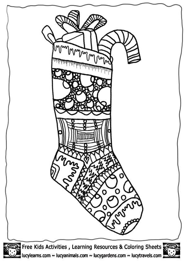 stocking free coloring pages - photo#26