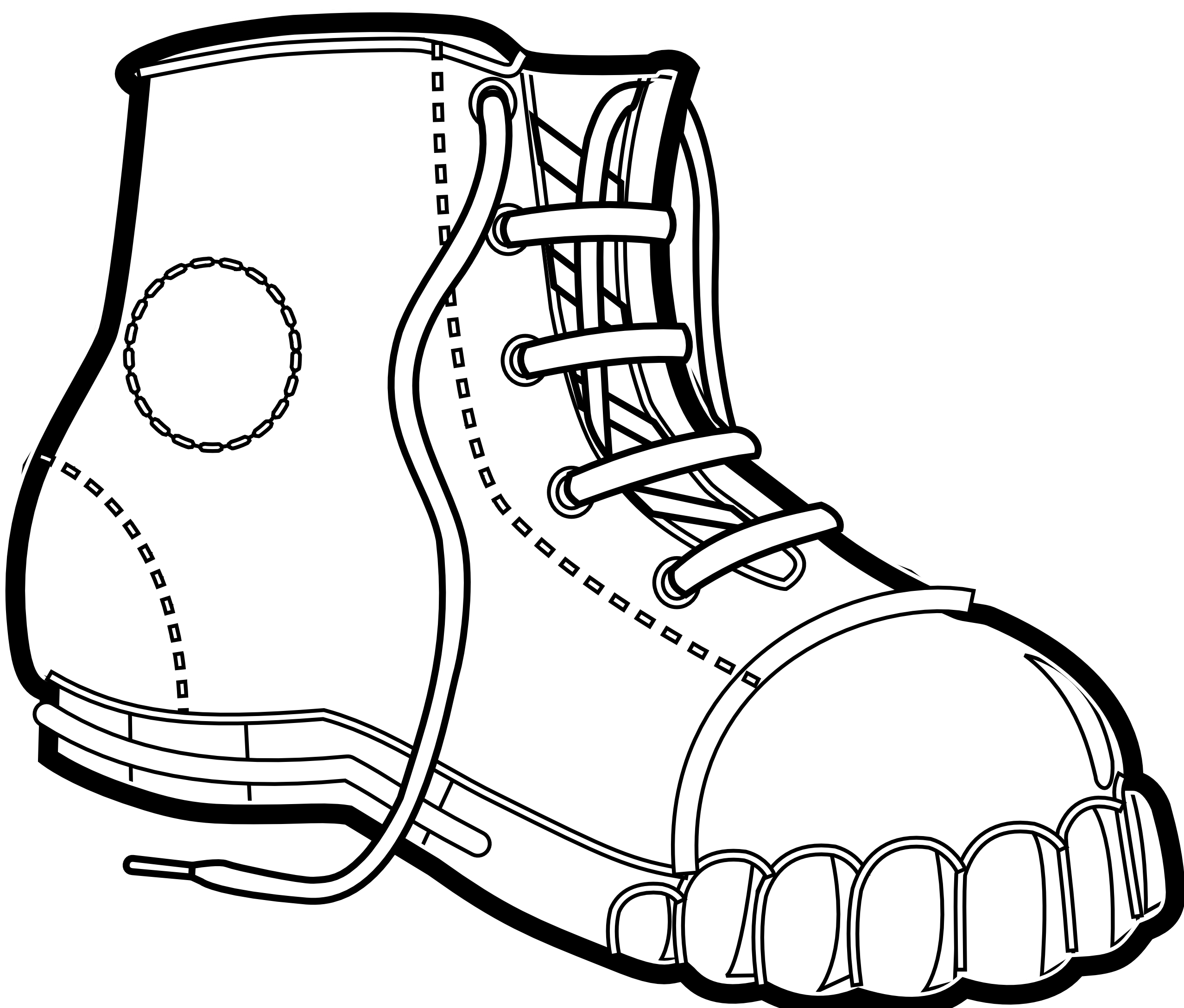 Boot Coloring Page - Coloring Home