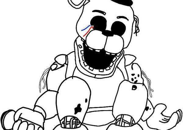 Golden Freddy Coloring Pages at GetDrawings.com | Free for ...