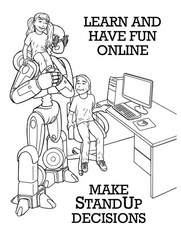 online safety coloring pages - photo#6