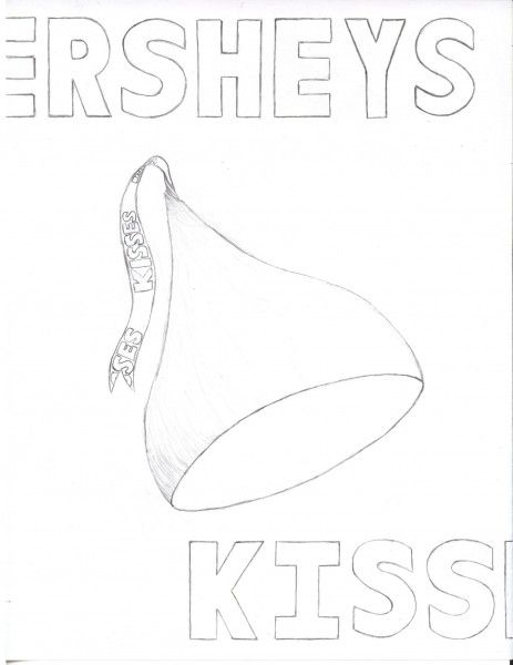 Hershey Kiss Coloring Page Coloring Home