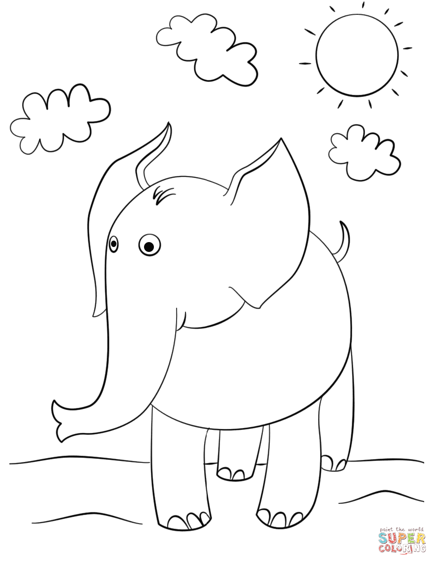 Colouring Pages For Lkg : Elephant Coloring Pages Coloring Home