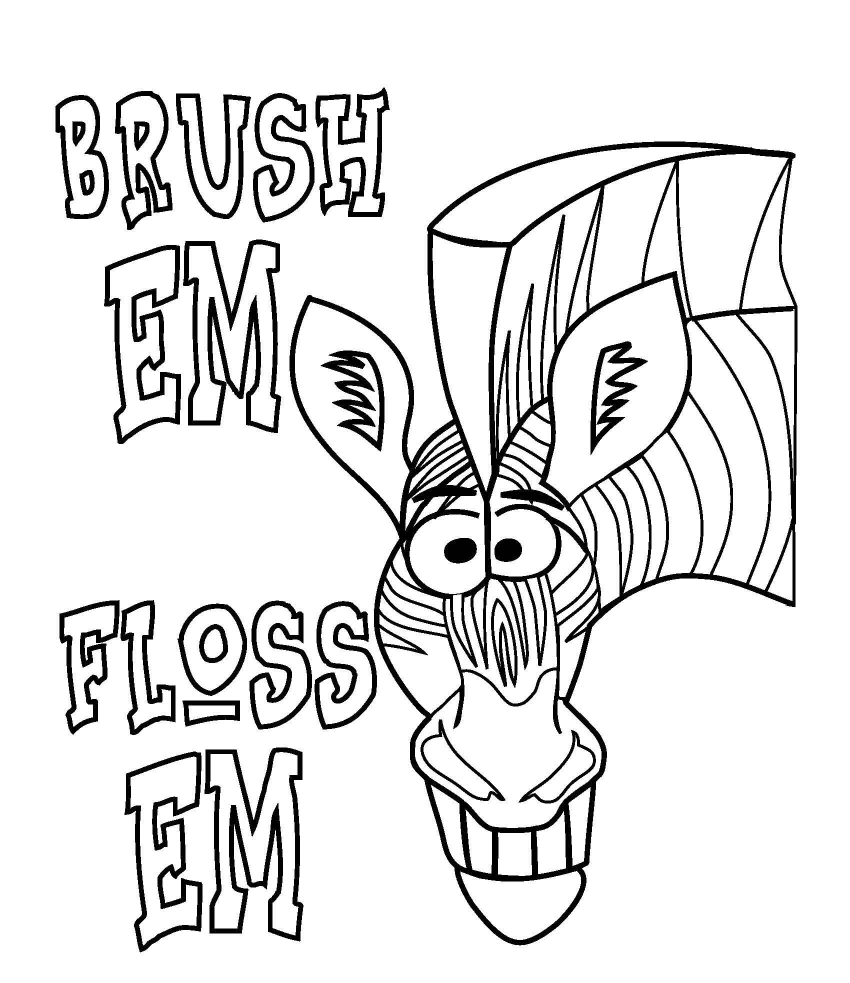 This is an image of Transformative Dental Coloring Pages Printable