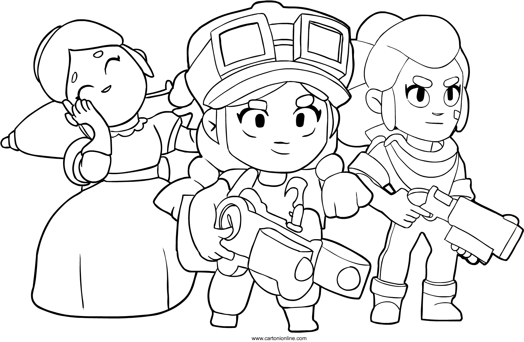 characters from Brawl Stars coloring page