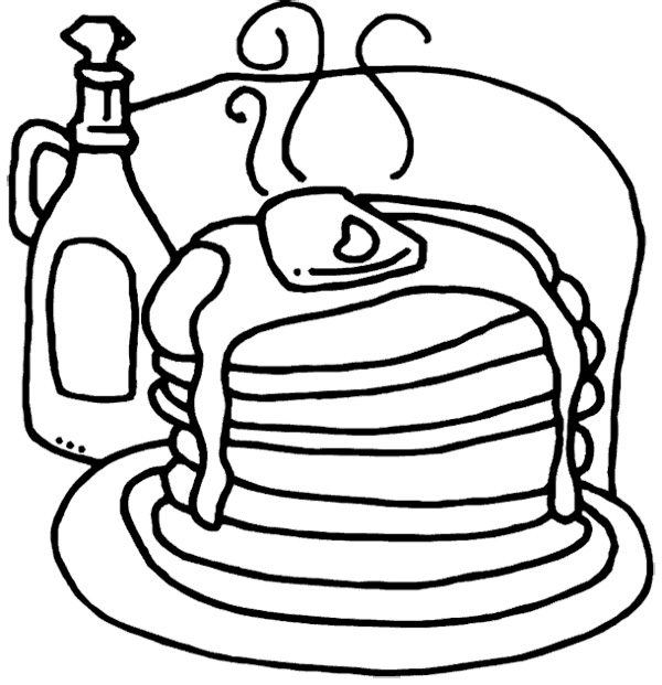 pancakes coloring pages - photo#7