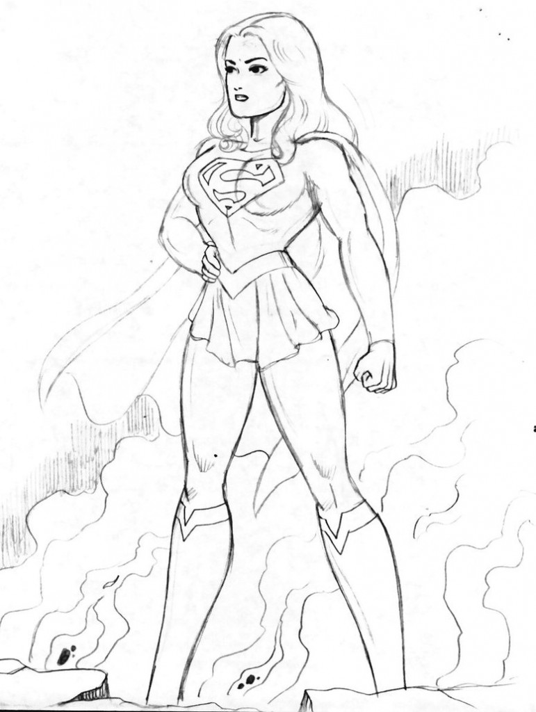 superwoman coloring pages - photo#7