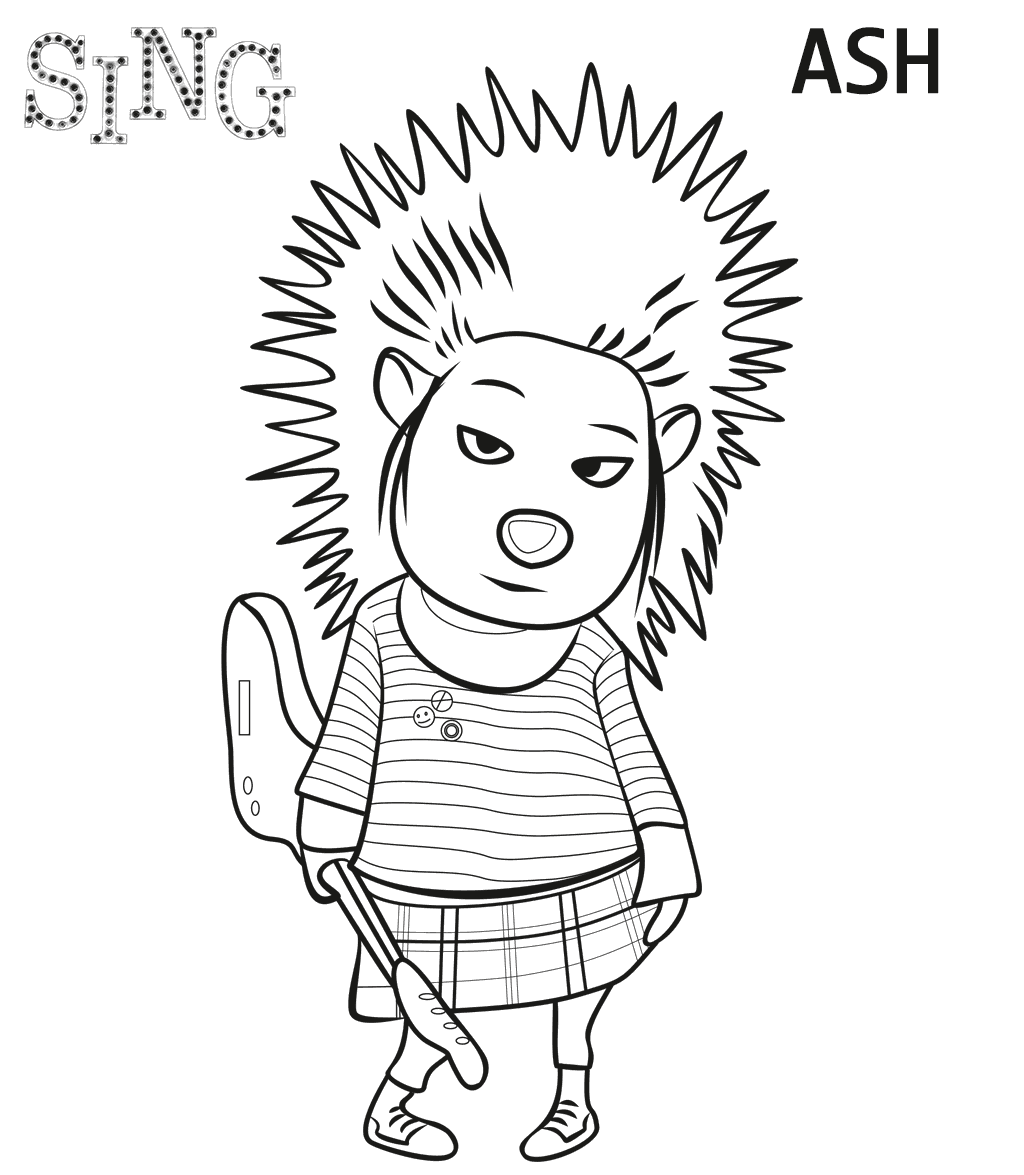 Movie Coloring Page