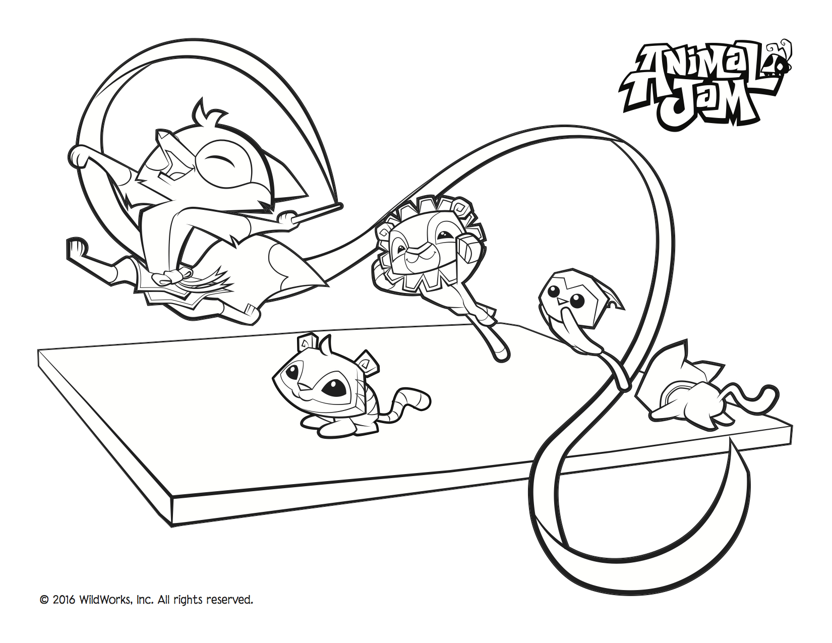 Animal Jam Coloring Pages at GetDrawings.com | Free for ...