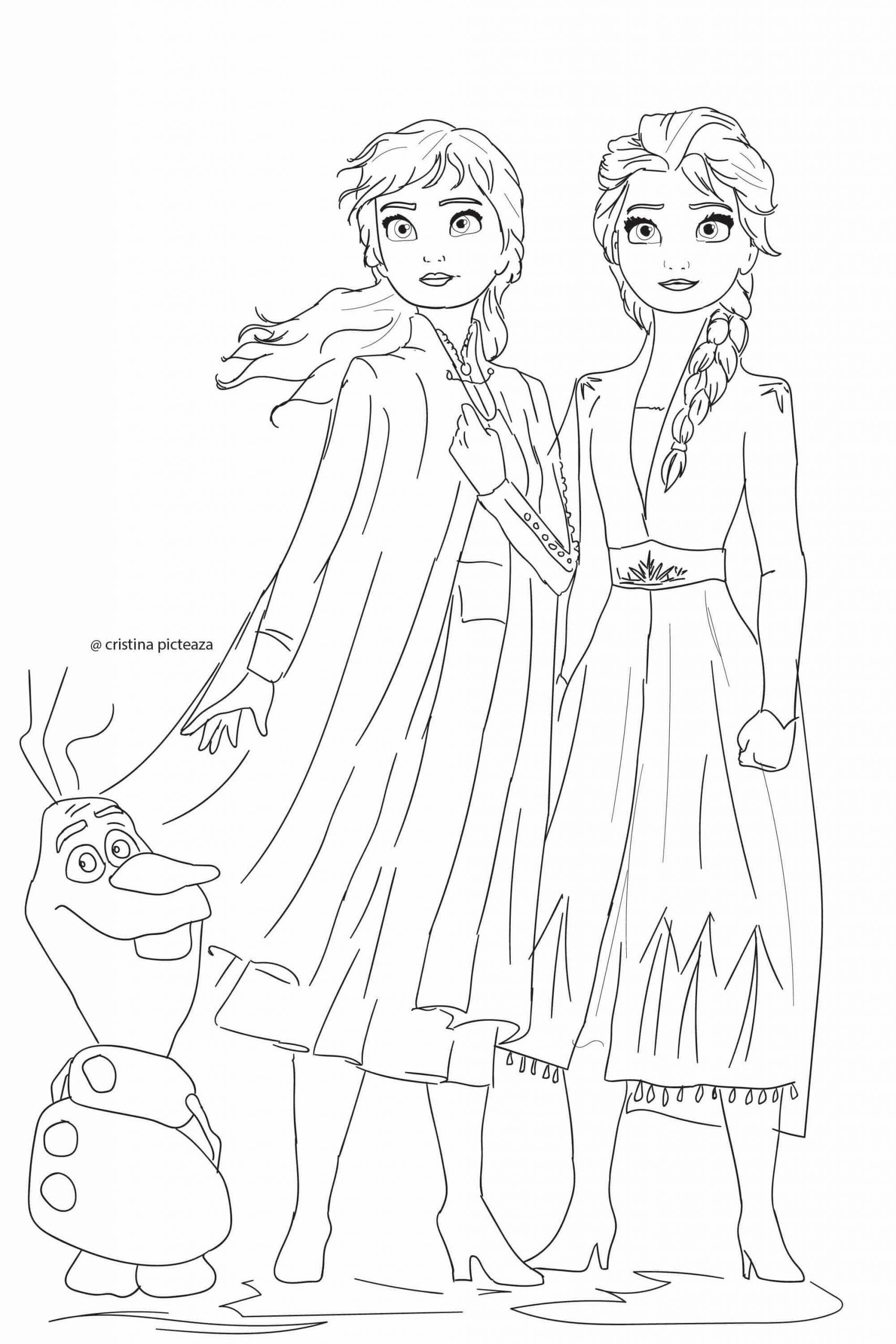 - Elsa And Anna Colouring Pages Free لم يسبق له مثيل الصور + Tier3.xyz