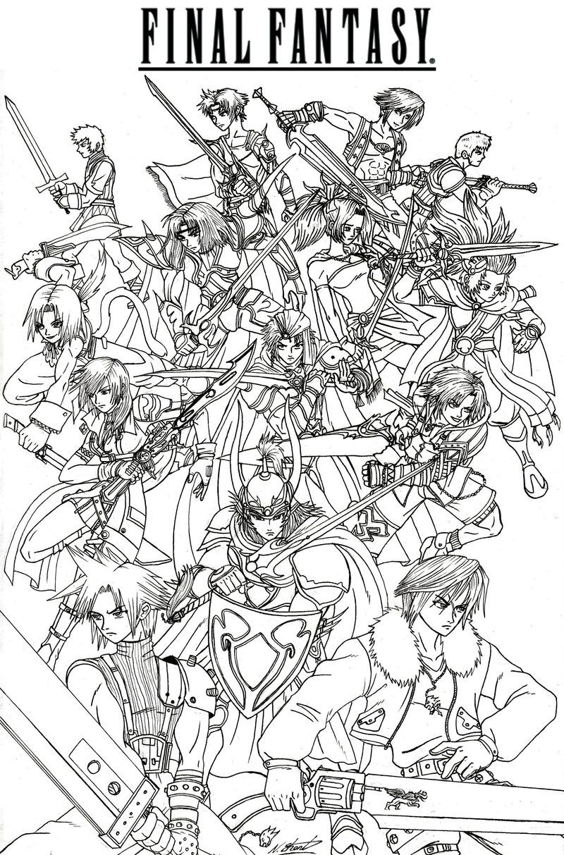 Final Fantasy 7 Coloring Pages - Coloring Home