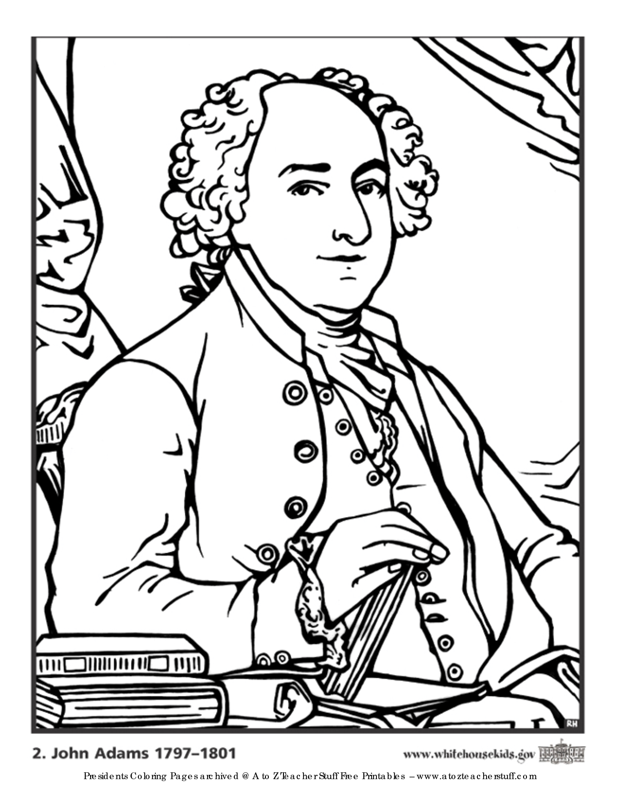 prsidents coloring pages - photo#32