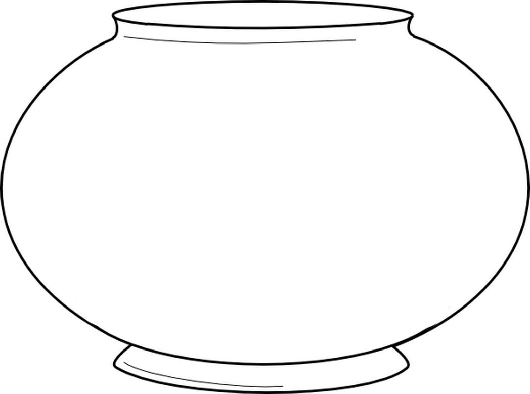 Fish Bowl Coloring Page Printable - Coloring Home