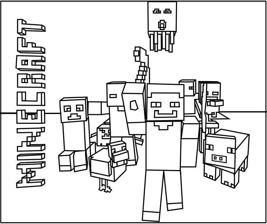 - Minecraft Coloring Book Printable - High Quality Coloring Pages - Coloring  Home