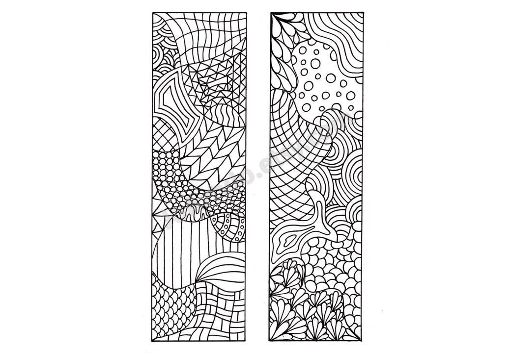 Bookmark Coloring Pages. printable bookmark coloring page book ...