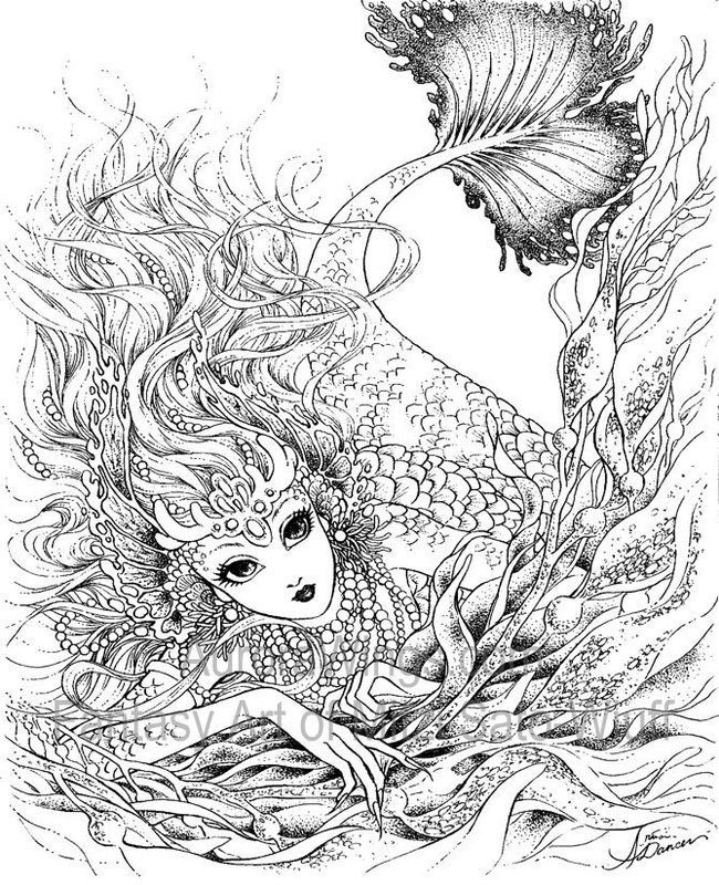 Detailed Coloring Pages Fantasy Art