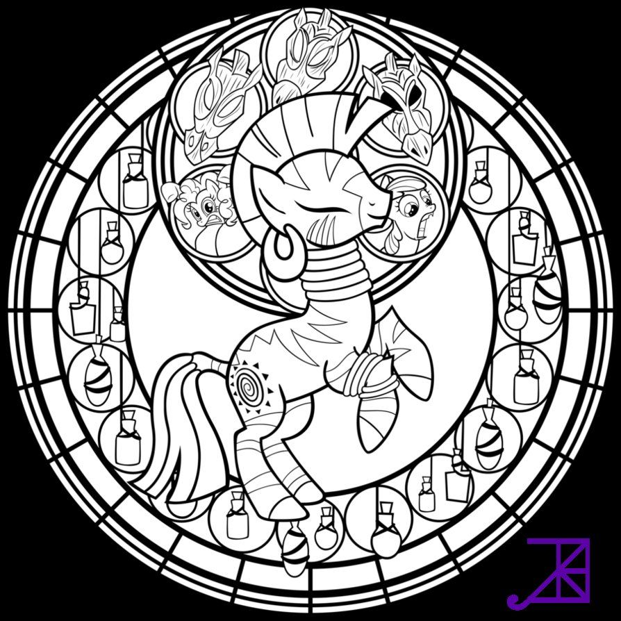 Coloring pages kingdom hearts - 13 Pics Of Kingdom Hearts Stained Glass Coloring Pages Disney