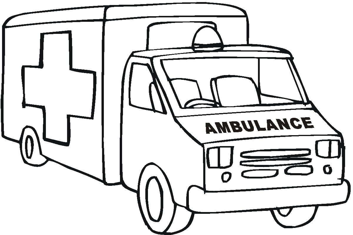 Ambulance coloring pages perfect coloring pages for Emergency coloring pages